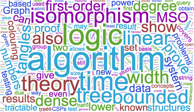 Wortwolke: algorithm, logic, isomorphism, theory, tree, data, first-order
